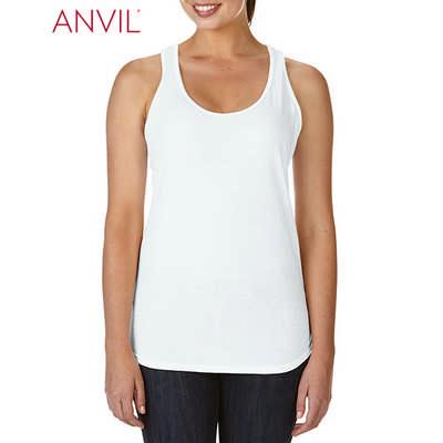 Anvil Womens Tri-Blend Racerback Tank White